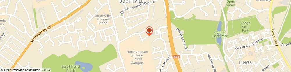 Route/map/directions to M Wilson plumbing, NN3 2SH Northampton, 6 Lindsay ave