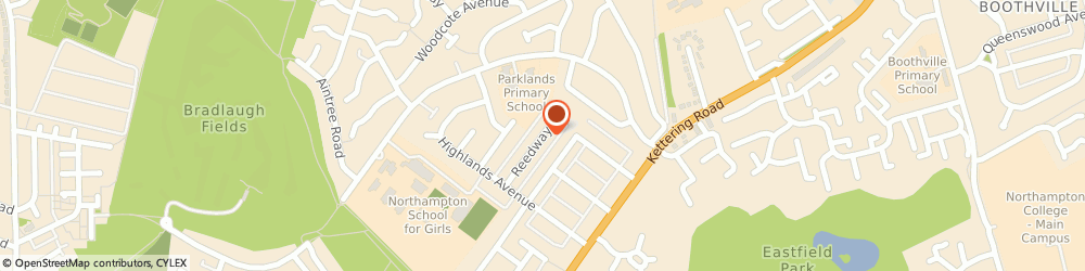 Route/map/directions to Spinney Hill Plumbing, NN3 6BT Northampton, 43 Reedway