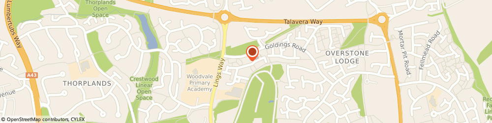 Route/map/directions to Nisa Local, NN3 8XS Northampton, Prentice Court