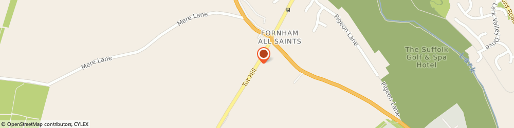 Route/map/directions to Ornamental Fish Farm, IP28 6LE Bury St Edmunds, Ornamental Fish Farm, Tut Hill