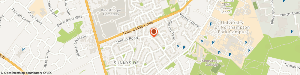 Route/map/directions to G Britten Electrical Northampton, NN2 8NQ Northampton, 95 HINTON ROAD