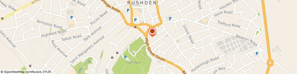 Route/map/directions to Taylor Griffin, NN10 0QU Rushden, 17 The Precinct