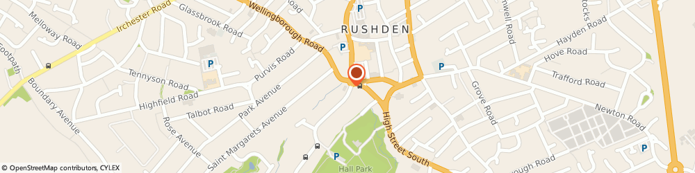 Route/map/directions to Mike Neville Estate Agents, NN10 9YG Rushden, Neville House, 67 Wellingborough Road