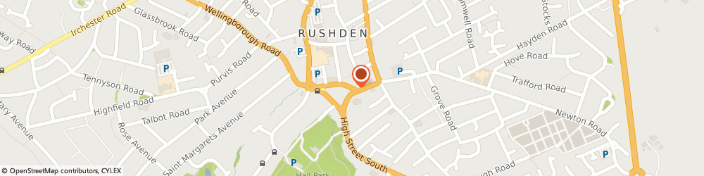 Route/map/directions to G.d Property Services, NN10 9YU Rushden, 11 CHURCH STREET
