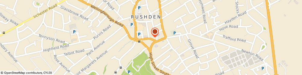Route/map/directions to Spoor & Co, NN10 9YT Rushden, 10 Church St