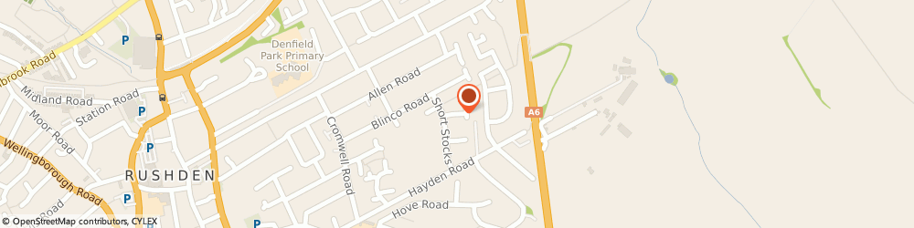 Route/map/directions to Riley Installations, NN10 0ED Rushden, 10 Mallery Close