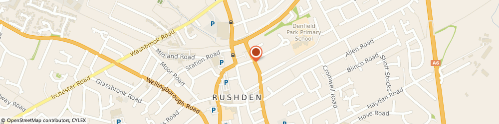 Route/map/directions to Collier & Ryan Refurbishments, NN10 0AH Rushden, 20, Victoria Rd
