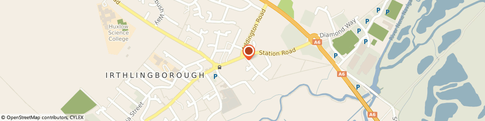 Route/map/directions to Irthlingborough Town Council, NN9 5SN Irthlingborough, Council Offices, Station Road