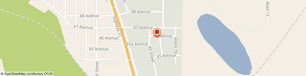 Route/map/directions to OK Tire, T4T 1A8 Rocky Mountain House, 4535 - 44th Street