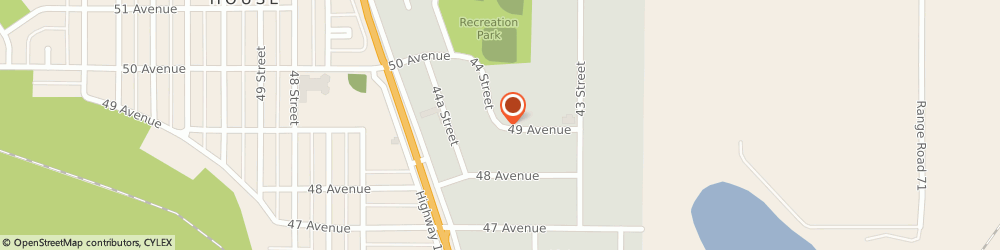 Route/map/directions to Civic Tire & Battery Rocky Ltd, T4T 1E1 Rocky Mountain House, 4904 44 Street