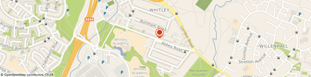 Route/map/directions to The Warwickshire Health Club, CV3 4BJ Coventry, ABBEY ROAD