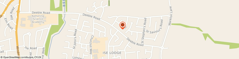 Route/map/directions to Mrs Maria Helga Duval - Psychotherapist, NN15 5HL Kettering, 231 DEEBLE ROAD, ISE LODGE ESTATE