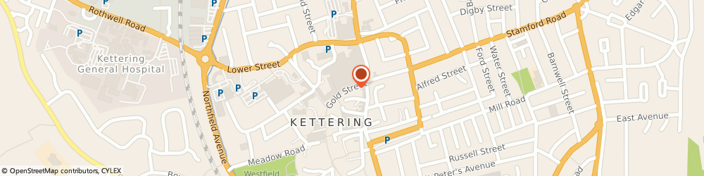 Route/map/directions to Quiz Kettering, NN16 8JA Kettering, 17 Gold St