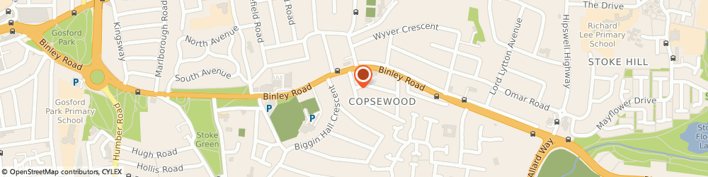 Route/map/directions to Micom International Ltd, CV3 1HD Coventry, BUCKINGHAM HOUSE, CRESCENT AVENUE