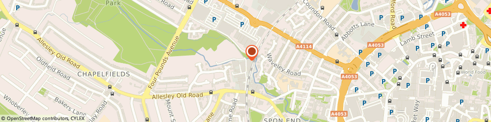 Route/map/directions to Coventry Rehearsal Rooms, CV1 3JQ Coventry, Arches Ind Est, Spon End, Unit 20a