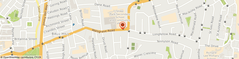 Route/map/directions to Red Corner, CV2 4BL Coventry, 290B Walsgrave Rd