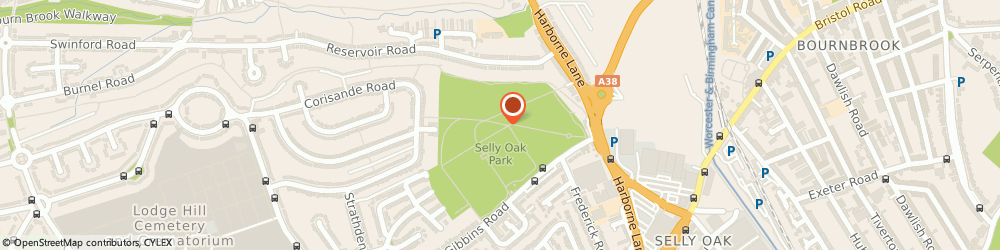 Route/map/directions to Burley's Outdoor Boot Camps & Personal Training, B29 6QR Birmingham, Gibbins Rd, Selly Oak Park