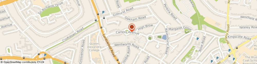 Route/map/directions to Major Mustards Travelling Show, B17 9EG Birmingham, 1 Carless Ave