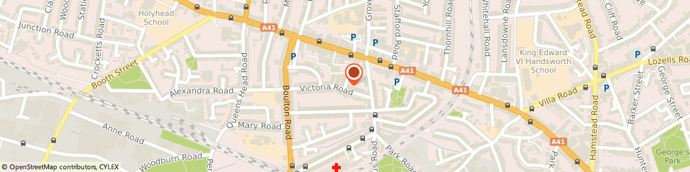 Route/map/directions to Louise Road Family Centre, B21 0RY Birmingham, 21 LOUISE ROAD