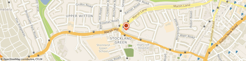 Route/map/directions to The Opposition, B23 7JD Birmingham, 527 Slade Rd