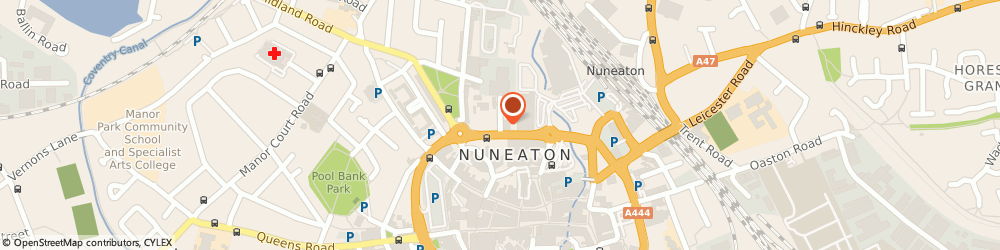 Route/map/directions to Warwickshire Fire & Rescue Service, CV11 4HR Nuneaton, 21 Newtown Rd