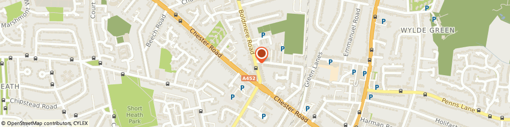 Route/map/directions to Lily White Florist, B73 5EZ Sutton Coldfield, 380 Boldmere Rd