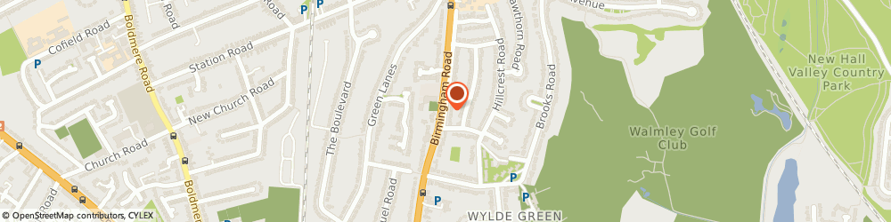 Route/map/directions to Insignia, B72 1DP Sutton Coldfield, 308 Birmingham Road