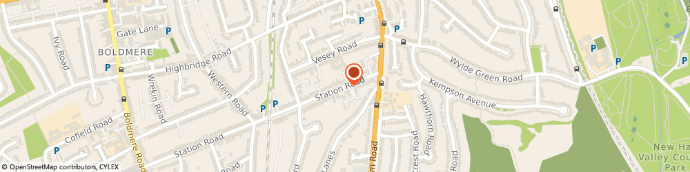 Route/map/directions to Esprit Coaching, B73 5JZ Sutton Coldfield, Sunningdale Court, 33 Station Rd