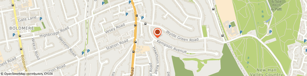 Route/map/directions to Hillcrest Computing Ltd, B72 1HJ Sutton Coldfield, 17, KEMPSON AVENUE