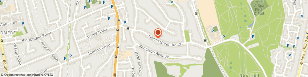 Route/map/directions to John Woodcock Home Improvements, B73 5JB Sutton Coldfield, 53, The Boulevard, Wylde Green