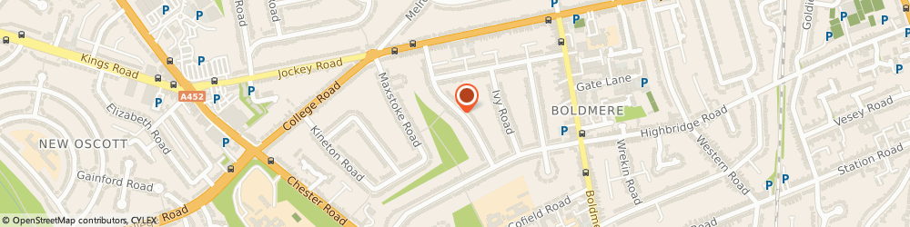 Route/map/directions to EXCEL IMPROVED HOMES LTD, B73 5EQ Sutton Coldfield, 42 Oakwood Rd