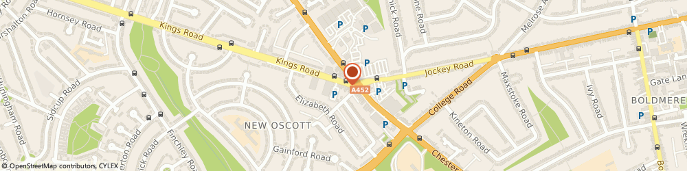 Route/map/directions to Physio in Action, B73 5AB Sutton Coldfield, 17 Kings Rd