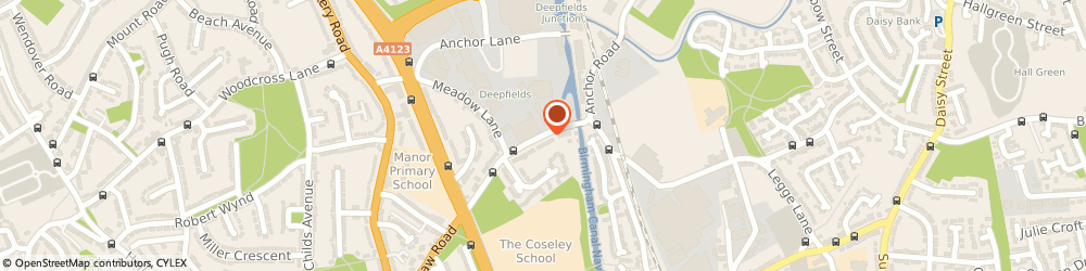 Route/map/directions to J T Matthews Roofing Centre, WV14 9NN Bilston, Biddings Lane, Coseley