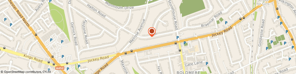 Route/map/directions to M Cruise Plumbing, B73 6NR Sutton Coldfield, 53 Halton Road