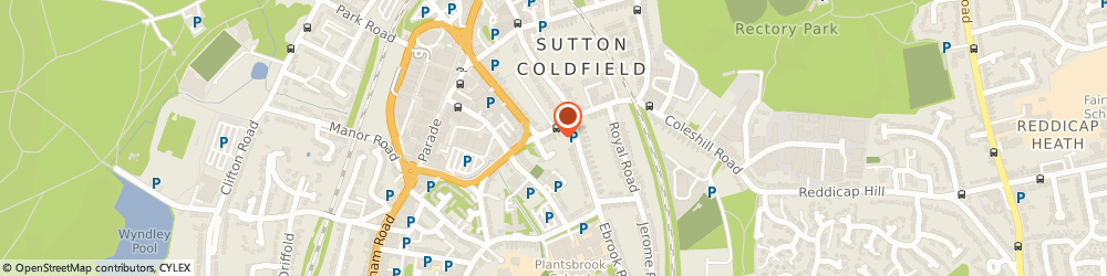 Route/map/directions to Tony Tilney, B72 1SN Sutton Coldfield, 63, VICTORIA ROAD