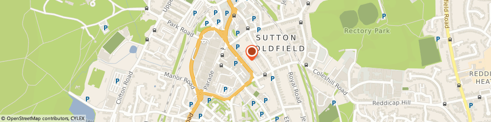 Route/map/directions to Starting Point Website Plan, B72 1SY Sutton Coldfield, 10 Wrens Court, 48 Victoria Road