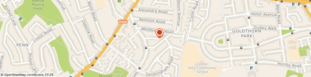 Route/map/directions to Blinds Direct Ltd, WV4 5SR Wolverhampton, 13 Elm Dale Rd