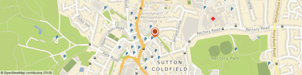 Route/map/directions to Fairway Homecare Ltd., B72 1TX Sutton Coldfield, 3 Trinity Place, Midland Drive