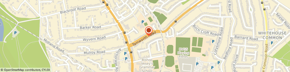 Route/map/directions to Mrs Pamela Hardisty - Psychotherapist, B75 6EB Sutton Coldfield, 33 Tamworth Road Sutton
