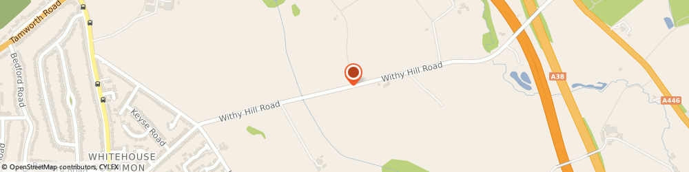 Route/map/directions to Aquaserve, B75 6JS Sutton Coldfield, Withy Hill Farm Cottage