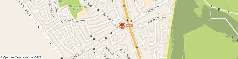Route/map/directions to M C J Solutions, B74 3HB Sutton Coldfield, 18 Bridle Lane