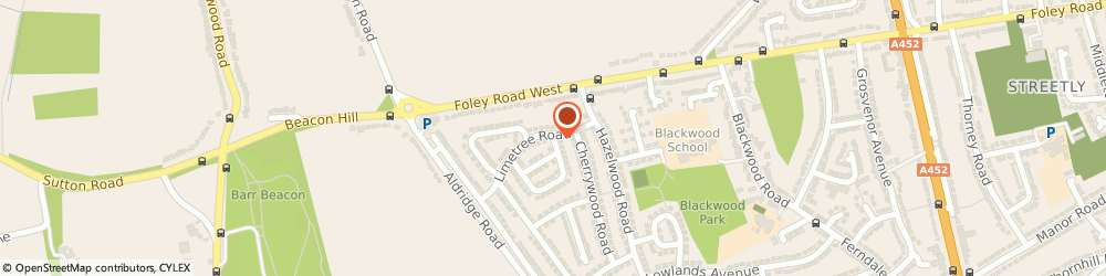 Route/map/directions to Whitethorn Solutions Ltd, B74 3SA Sutton Coldfield, 1 Whitethorn Crescent