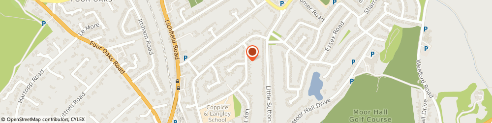 Route/map/directions to N D A Electrical, B75 6TH Sutton Coldfield, 12 TRINITY ROAD
