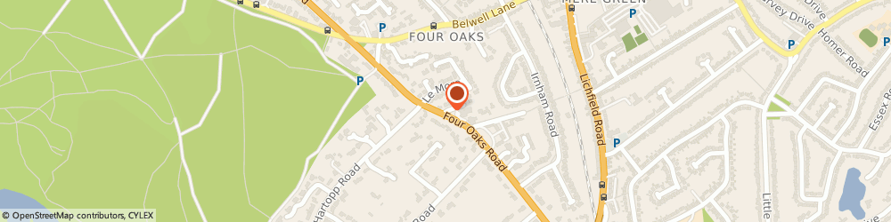 Route/map/directions to John O'malley & Co Ltd, B74 2TL Sutton Coldfield, 44 FOUR OAKS ROAD