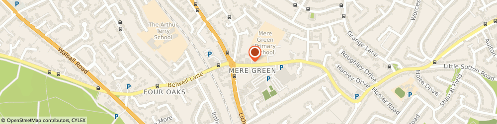 Route/map/directions to Carl Dean, B75 5BL Sutton Coldfield, ARTHUR HOUSE, 21, MERE GREEN ROAD
