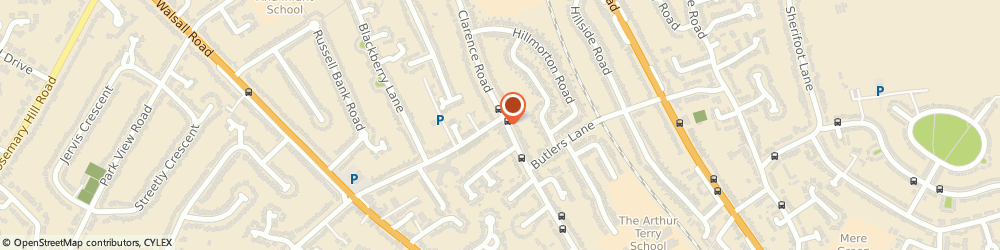 Route/map/directions to Strysen Heating Limited, B74 4AU Sutton Coldfield, 127 Clarence Road
