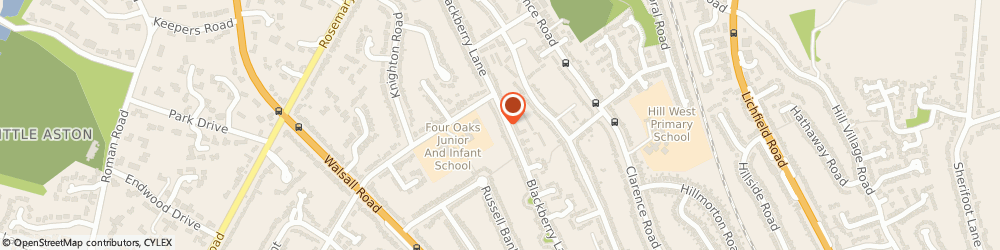 Route/map/directions to Four Oaks Plumbing & Heating Ltd, B74 4JH Sutton Coldfield, 130 Blackberry Lane