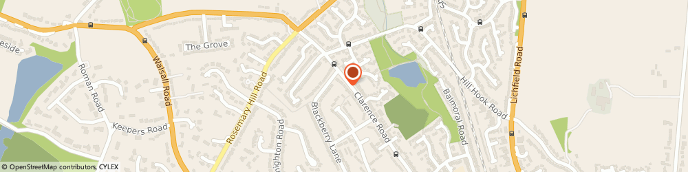 Route/map/directions to Eagle Security Alarms, B74 4LX Sutton Coldfield, 363, CLARENCE ROAD