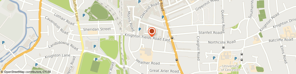 Route/map/directions to Energas Ltd, LE2 6BR Leicester, Knighton Fields Rd East, Morris Road, Unit 1