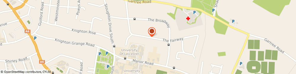 Route/map/directions to Social Services Office, LE2 6LN Leicester, SAFRON LANE, THE FAIRWAY